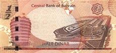 0,50 dinaro del bahrein