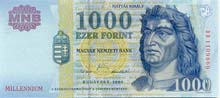 1000 fiorino ungherese fronte