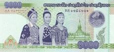 1000 kip laotiano fronte