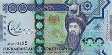 100 manat turkmeno fronte