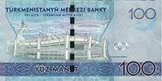 100 manat turkmeno retro