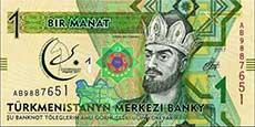 1 manat turkmeno fronte