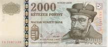 2000 fiorino ungherese fronte