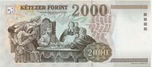 2000 fiorino ungherese retro