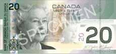 20 dollari canadesi