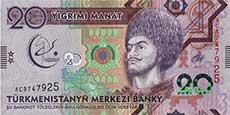 20 manat turkmeno fronte