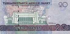 20 manat turkmeno retro