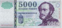 5000 fiorino ungherese fronte