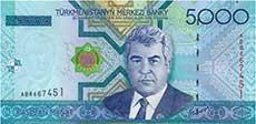 5000 manat turkmeno fronte