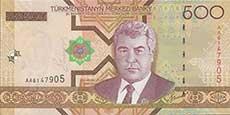 500 manat turkmeno fronte